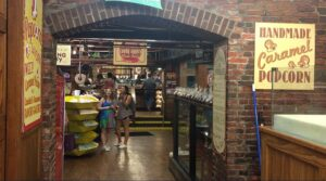 Road trip teenagers at the candy store
