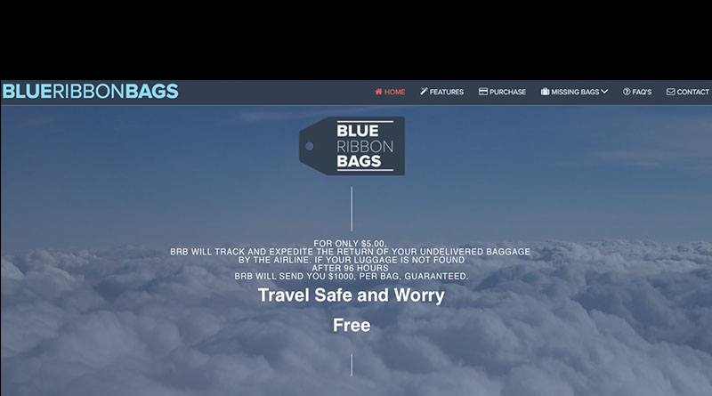 Blue Ribbon Bags lost luggage tracker program