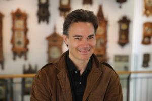 Christopher Elliott at the German Clock Museum. Photo by Aren Elliott.