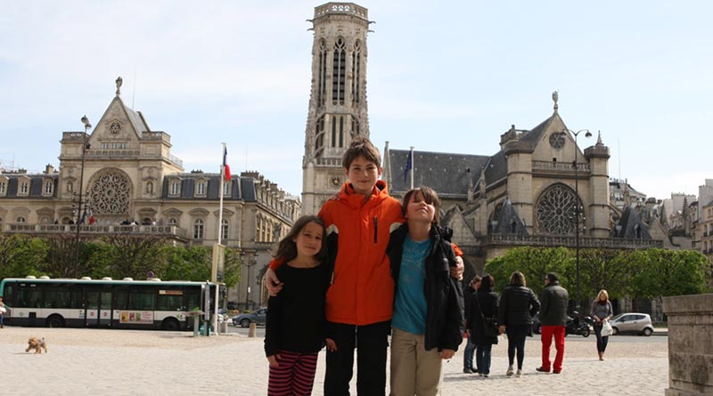 The kids in France in 2014. We almost didn't make it!