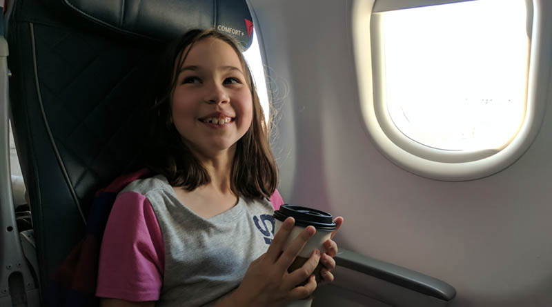 How to sit with your kids on the plane.