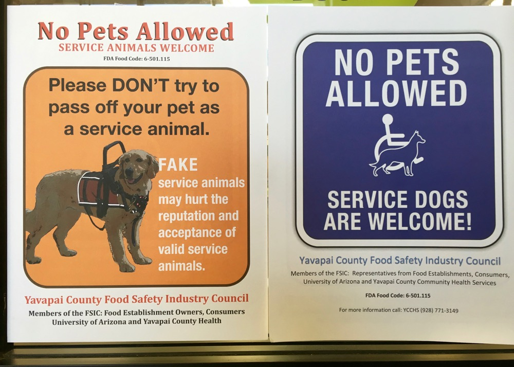 """Please DON'T try to pass off your pet as a service animal"""