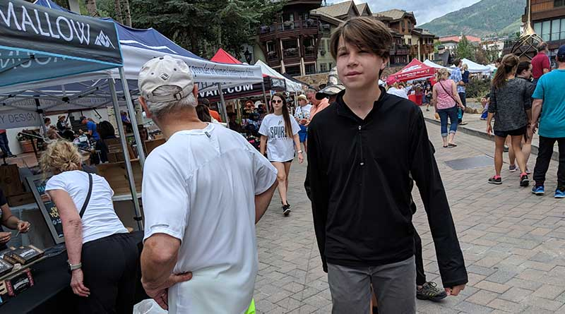 Iden Elliott tours the Vail Farmers Market in Vail, Colo.