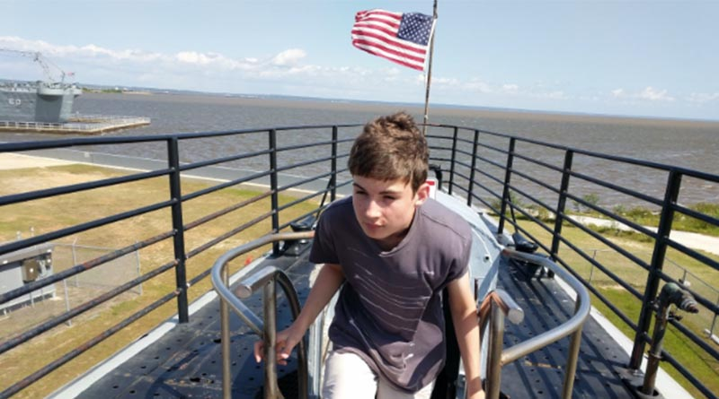 Aren Elliott at the U.S.S. Alabama in Mobile, Ala., in 2017. Sometimes you have to look to find beauty. But it's always there.
