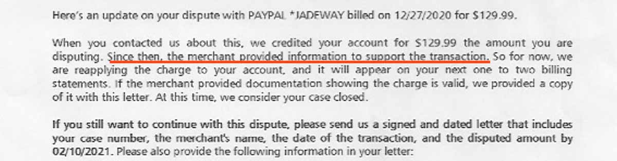 This scammer provided a fake confirmation of delivery notice to PayPal.