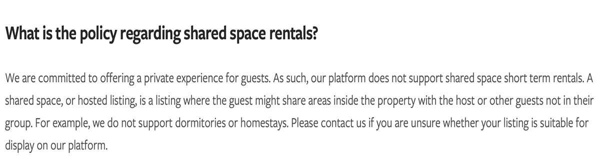 Vrbo doesn't allow shared space rentals. So why does this host think she can stay with her guests?