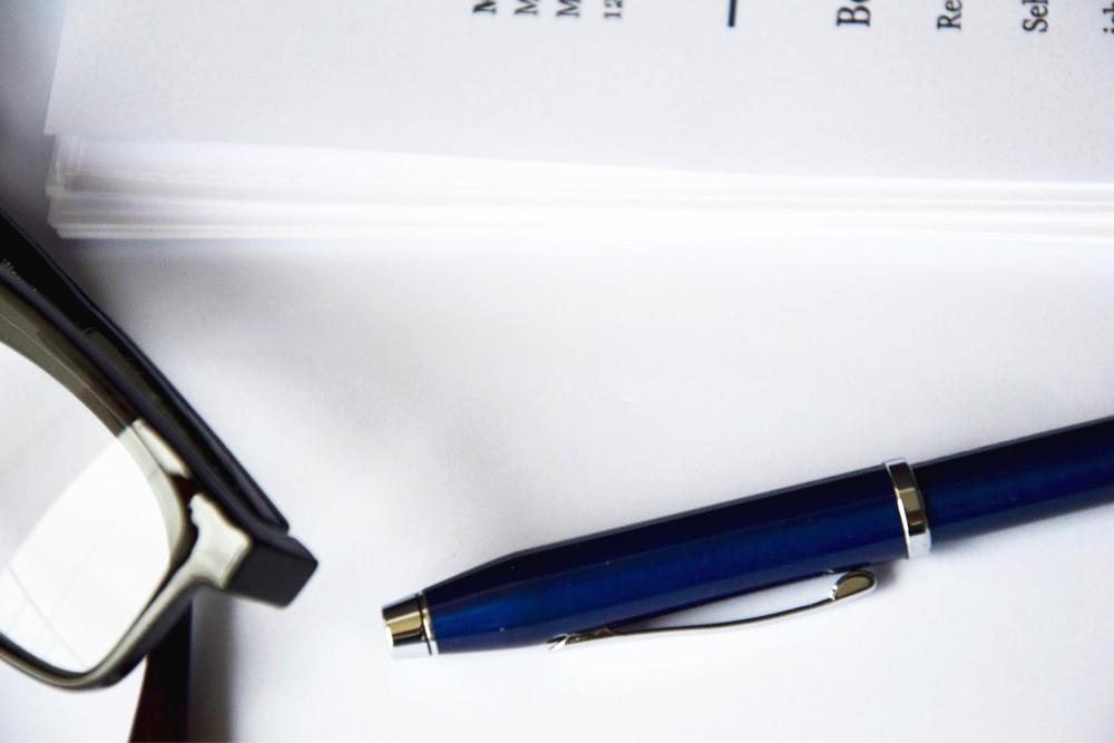 application, form, paper, paperwork, contract, glasses, pen