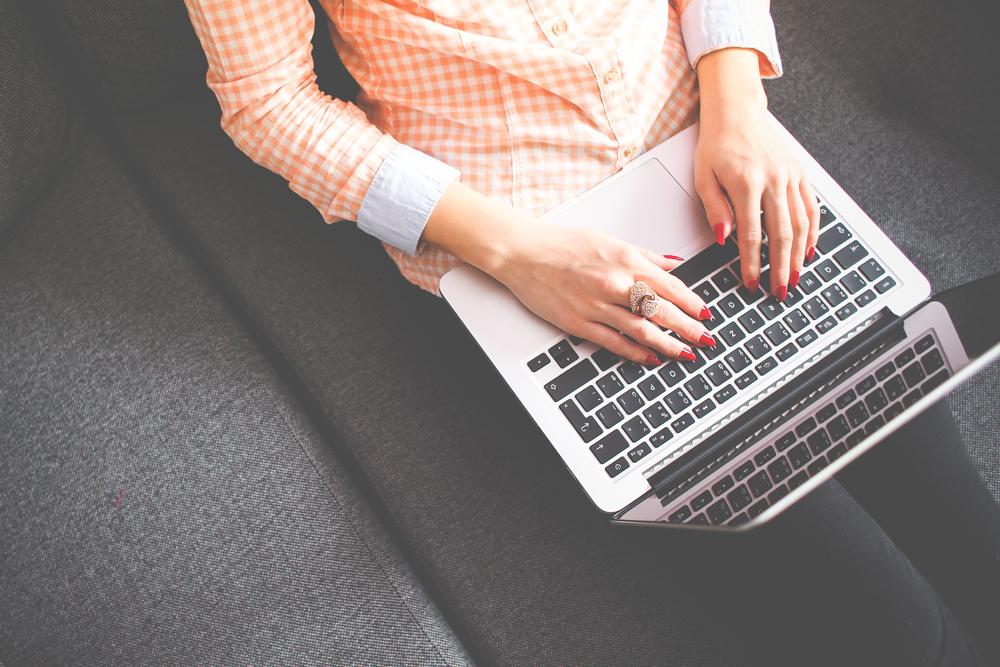 computer, woman, laptop, internet, type, typing