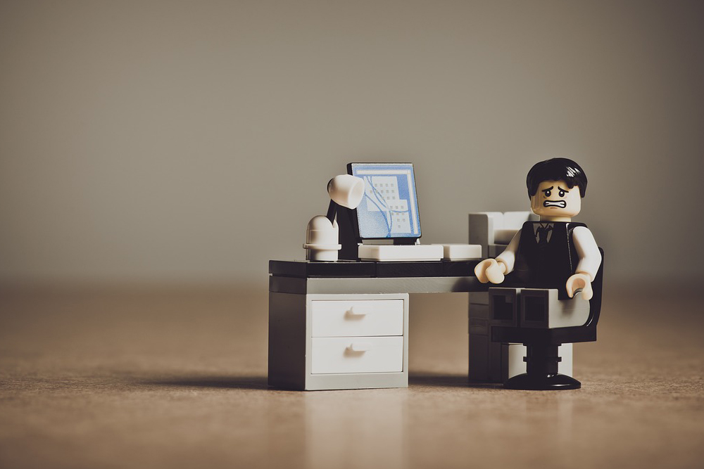 desk, work, worker, computer, laptop, legos