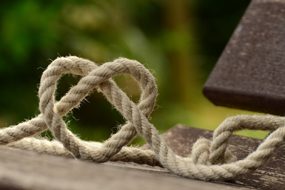 heart, rope, rustic, love, affection, loyalty