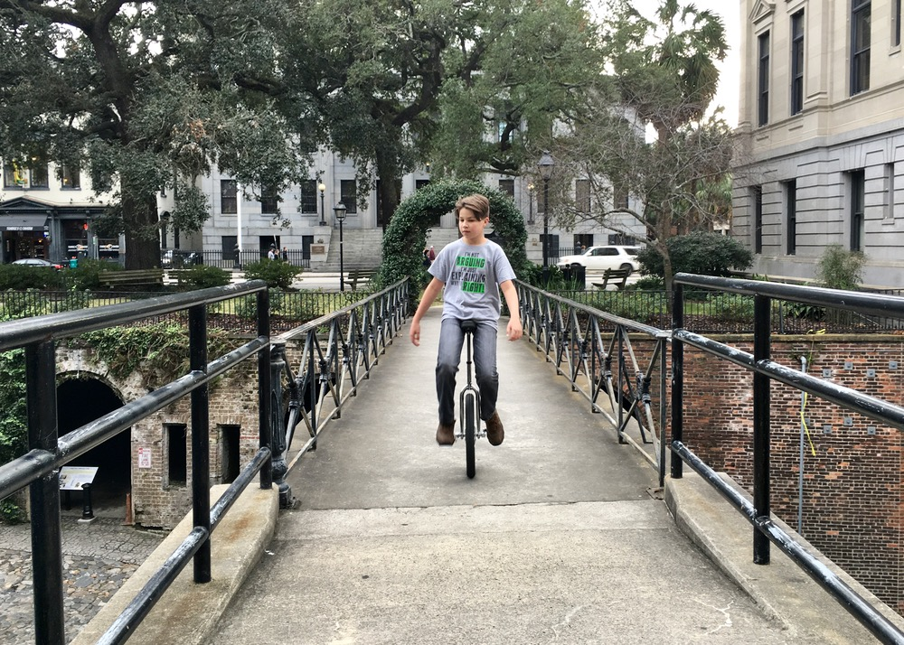 When you're cycling through Savannah, the second wheel's optional