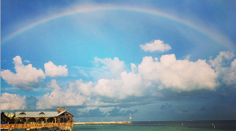 Michelle Couch-Friedman's photo of a Key West rainbow. The road trip arrives in Key West