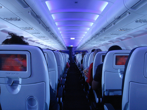 airplane, plane, airline, flight, aisle, seat, interior, movie, inflight, in-flight, cabin, tray, table
