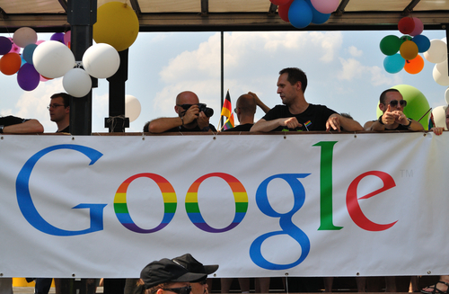 how to get my company name in google search