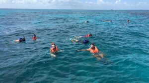 Snorkeling on our road trip. John Pennekamp Coral Reef