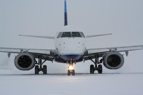 snow at airport