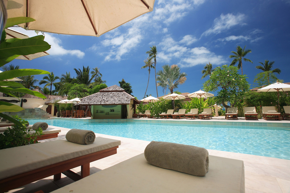 tropical, vacation, paradise, trip, pool, water, spa