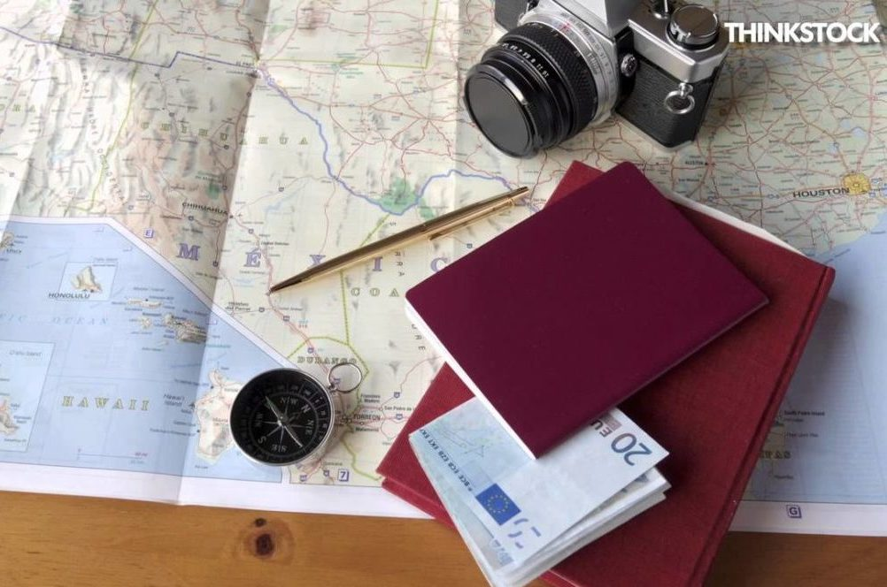travel, trip, map, camera, compass, vacation